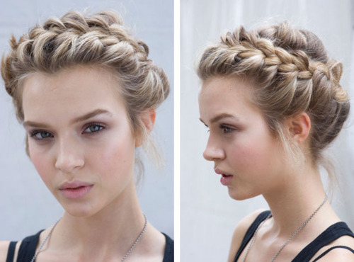 Hairstyles With Braids Tumblr: Spring Hair Trends: Beautiful Braids And Messy Buns